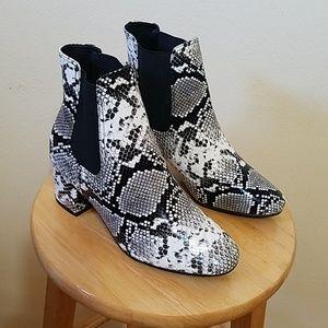 Shoes - E. Black & White Booties